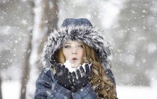 Lockenpflege im Winter