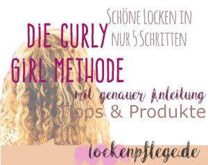 Curly Girl Methode Anleitung schöne Locken