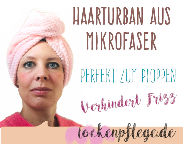 Haarturban Mikrofaser Curly Girl Methode Ploppen